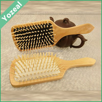 Small health hair wood comb with handle