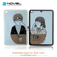 Quality assured best price 2D rubber Sublimation Phone Case for ipad mini 4