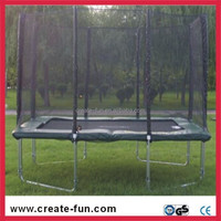 commercial rectangle and square trampoline with enclosure