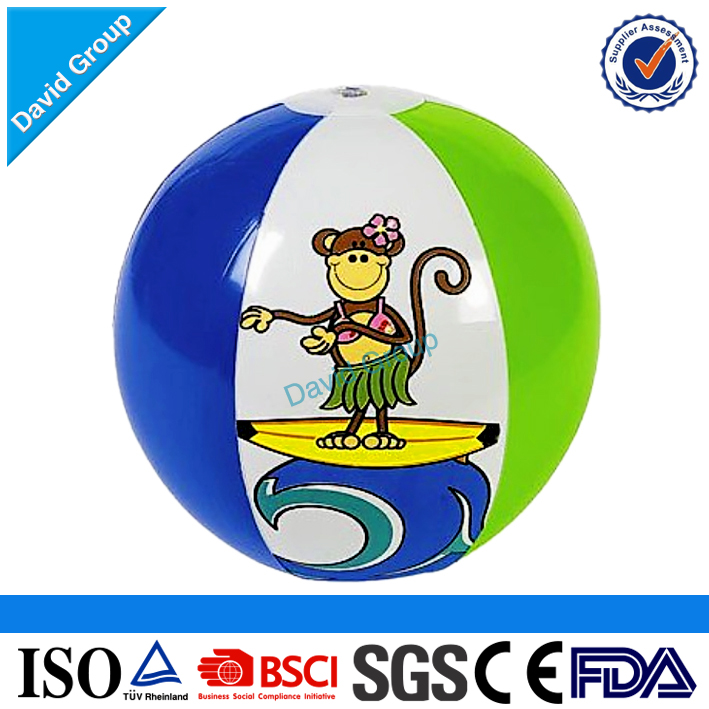 Certified Alibaba Top Supplier Promotional Wholesale Custom Inflatable PVC Beach Ball