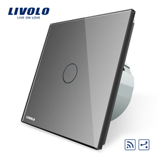 Livolo EU standard 1 gang 2 way Touch Wall Light <strong>Switch</strong> RF Wireless Remote Electric <strong>Switches</strong> VL-C701SR-15
