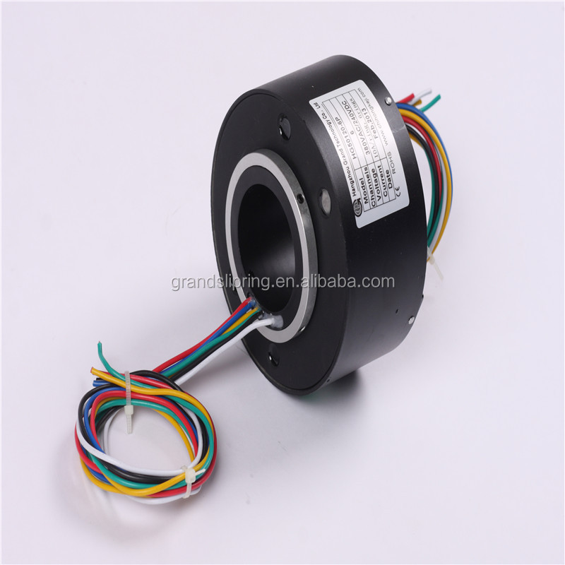 OD99mm ID38.1mm 10-15A/ring of through bore slip ring electrical swivel connector