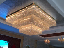 hotel lobby big square crystal chandelier pendant lights