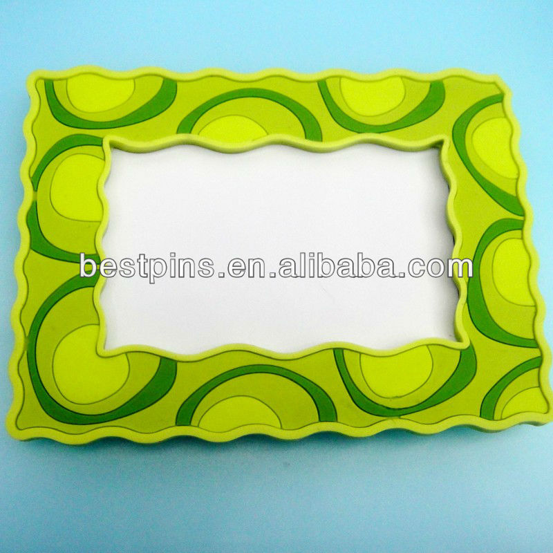 3d pvc phote frame/green photo frame gifts(BS-AJ-PF-13101607)