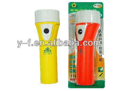 Rechargeable&Environmental lead-acid battery led torch