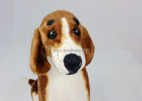 2016 new design customized cheapest lifelike beagle dog stuffed plush toys