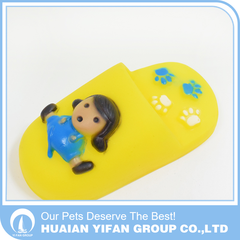 Factory direct sales Eco-friendly Slippers mechanical rubber pet dog toy