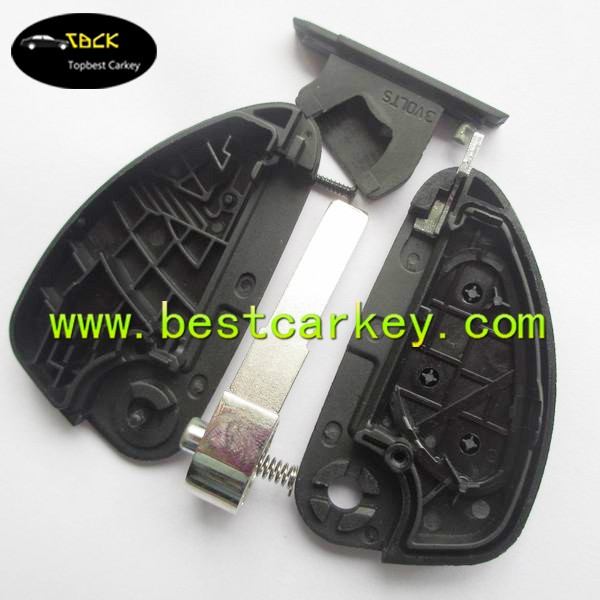 Topbest new style car flip key shell with 3 button remote key shell