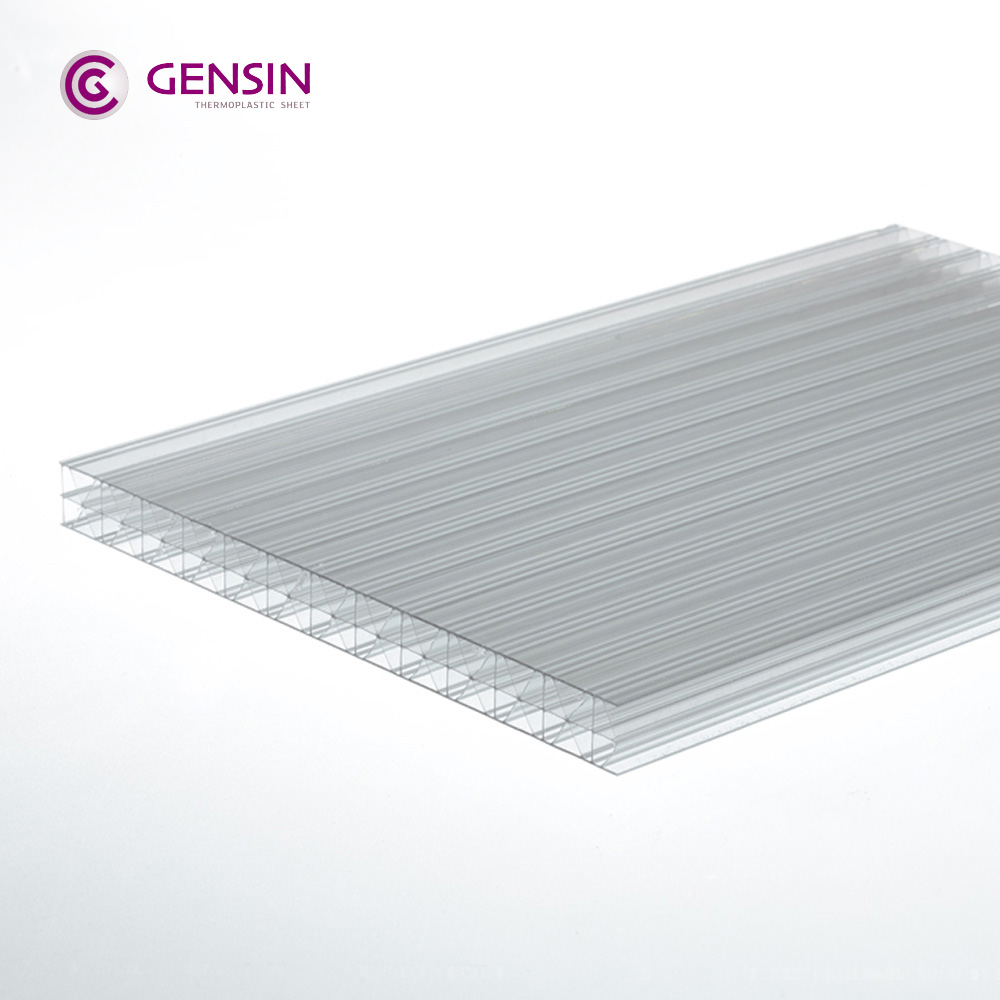 Haining GENSIN X-structure 3wall clear UV coated policarbonato 16mm
