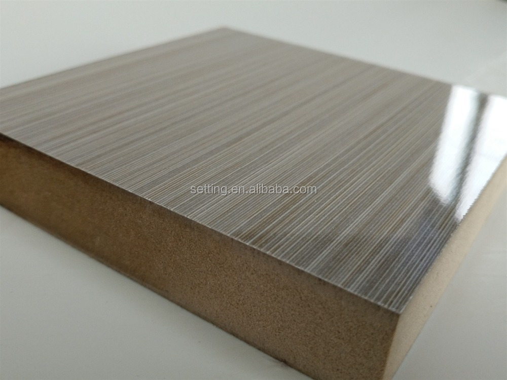 Wood grain color uv mdf board for kitchens ST-T9001