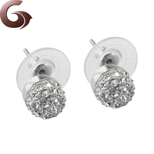 Fashion zircon stainless steel women earring