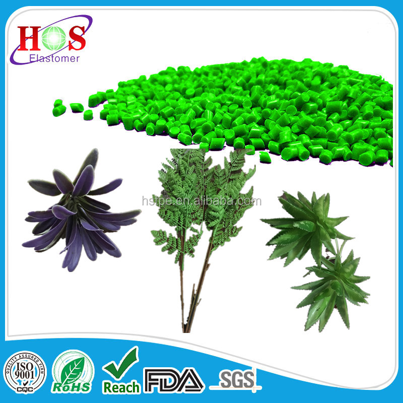 Thermoplastic Elastomer TPE Plastic resin used for plastic flowers and flower stems