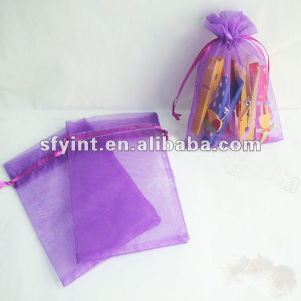 Decorated organza pouch bag
