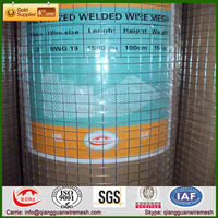 China Factory Galvanized welded wire mesh /8 gauge welded wire mesh ISO9001:2008
