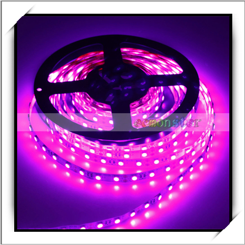 5M 75W 300LED 400-450nm Cheap SMD 5050 DC 12V LED Strip Light Decorative Light Pink