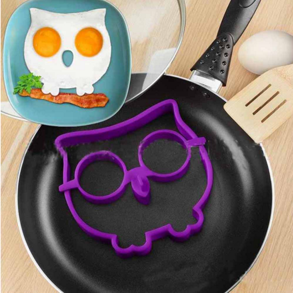 Factory wholesale funny owl silicone egg mold