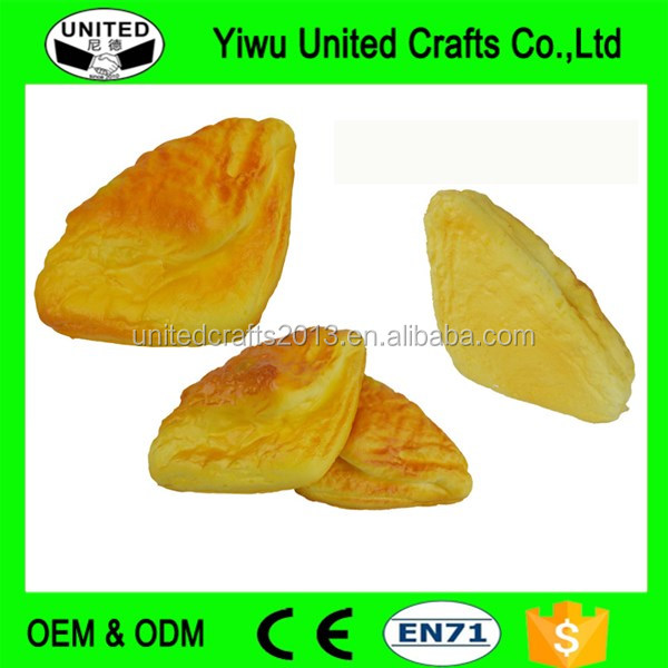 Fake Cake Artificial Bread Decoration, PU fake bread