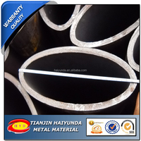 Black Annealed Flat Oval Steel Tube / Elliptical Steel Tube