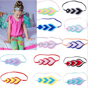 Wholesale Stylish Cute Kids Pearl Feather Hairband