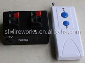 2cues remote control firing system, rechargeable battery, 500m distance,learn function