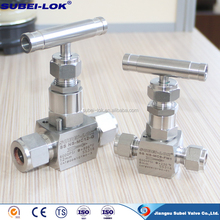 Chinese manufacturer Stainless Steel SS high pressure Needle valve / gas oil swagelok Needle valve