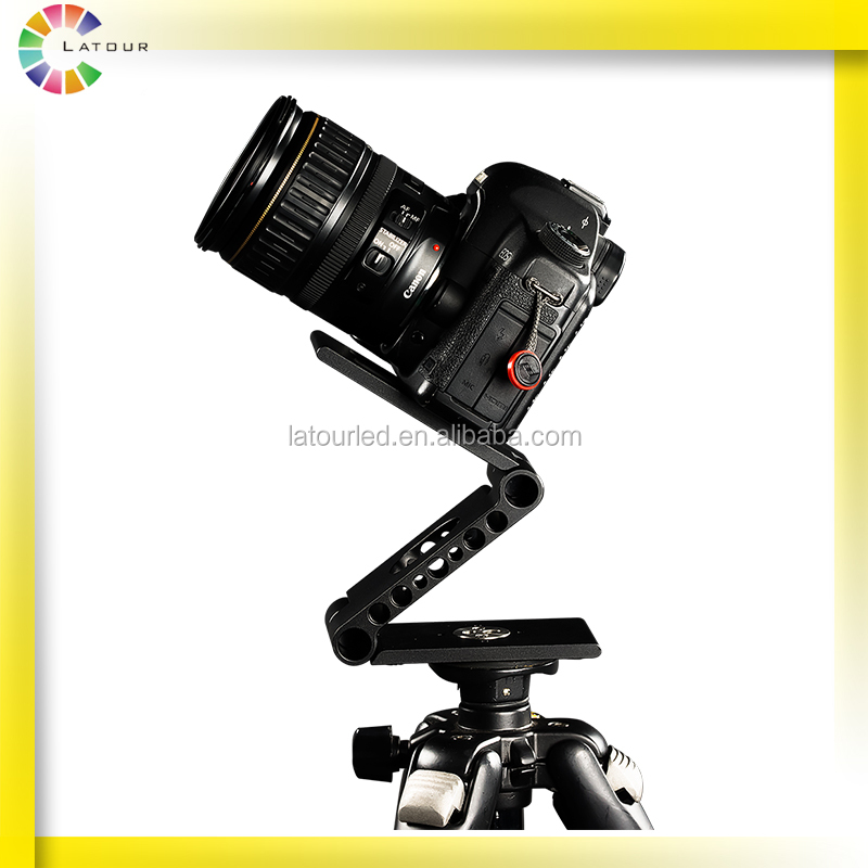 Professional Camera Support Rig Folding Stand Stabilizer Video Tripod Mount Head for Cell Dolly