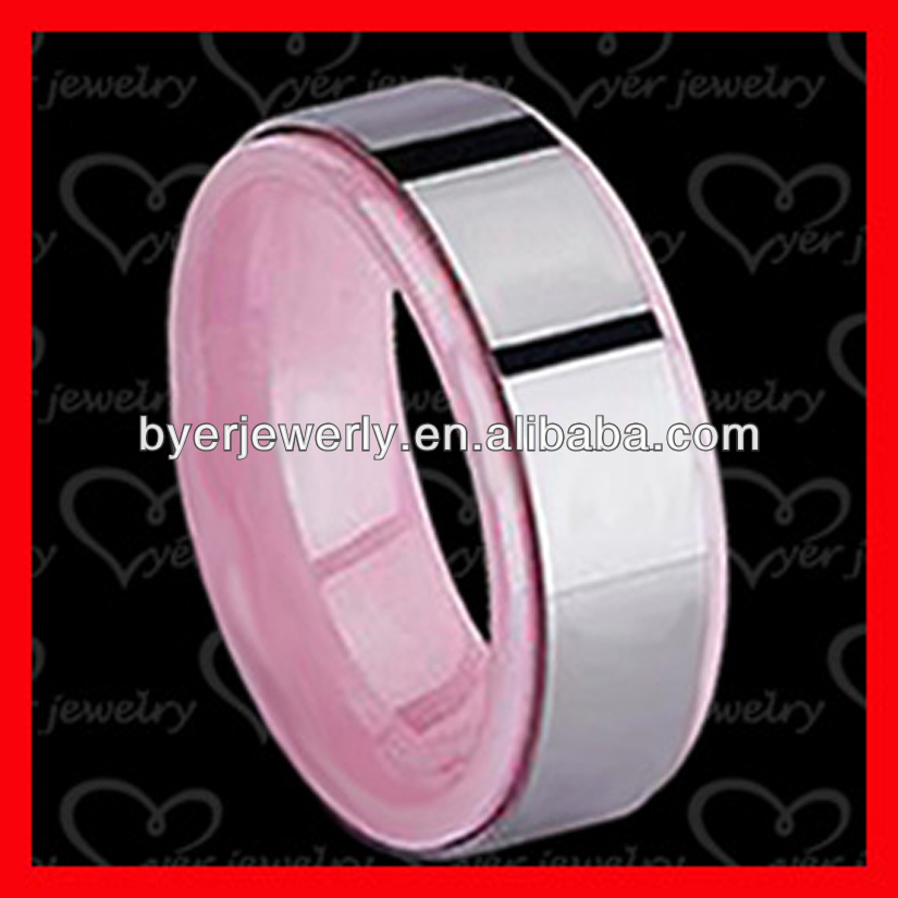 tungsten carbide ring pink with unique styles and good price