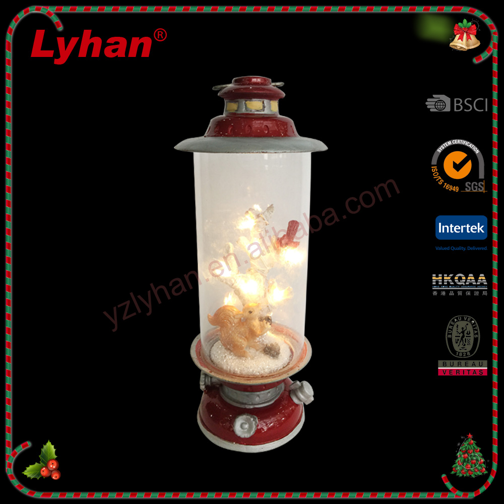 Lyhan top quality christmas led lights glass spring birds and squirrel inside 2017 christmas home decoration