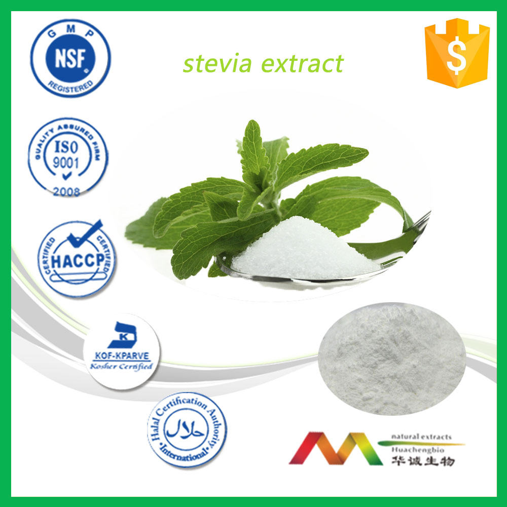 GMP&ISO Manufacturer Natural Reb A Powder Stevia Leaf Extract