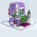 DeTIAN offer island shape custom 3x3 exhibition booth design provider in China for expo