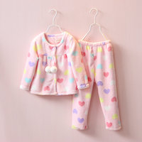 Hot sell cartoon children's sleepwear set cotton baby girl pajamas winter kids sleepwear nightwear