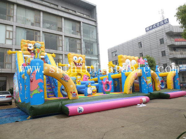 EN14960 inflatable amusement park ,inflatable fun city for kids