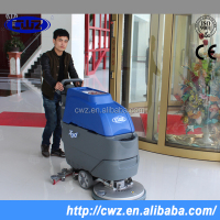 24V battery type hand push manual small floor scrubber