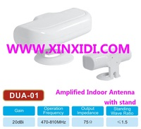Amplified Indoor Antenna with stand DUA-01_50 Miles Range reception_White color with good appearance