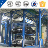 4 post PJS quad stachers mini mechanical portable car parking lift for public parking