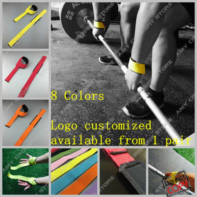 1Pair Weight Lifting Strap Hand Wrist Bar Support Strap Brace Support Gym Straps Weight Lifting Belt Body Building Grip Glove