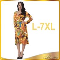Plus size clothing 4xl 5xl 6xl dress dropship trendy clothing