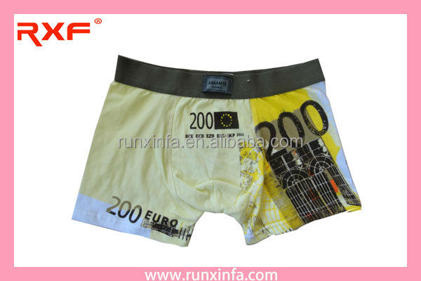 Cotton Printed Men's boxer Pictures of men in lingerie