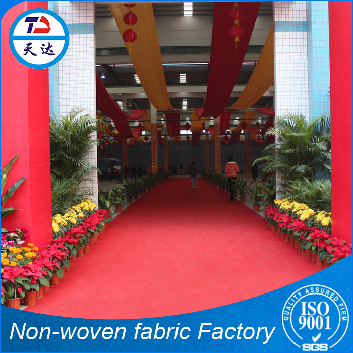 ISO9001 Supplier Spun Bonded Exhibition Material Furry Carpet Material