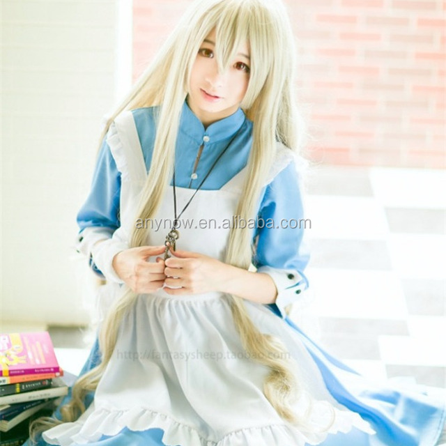 Beautiful japanese cartoon anime easy girls maid cosplay costume
