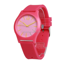 Latest Silicone Rubber Japan movement waterproof top quality watches