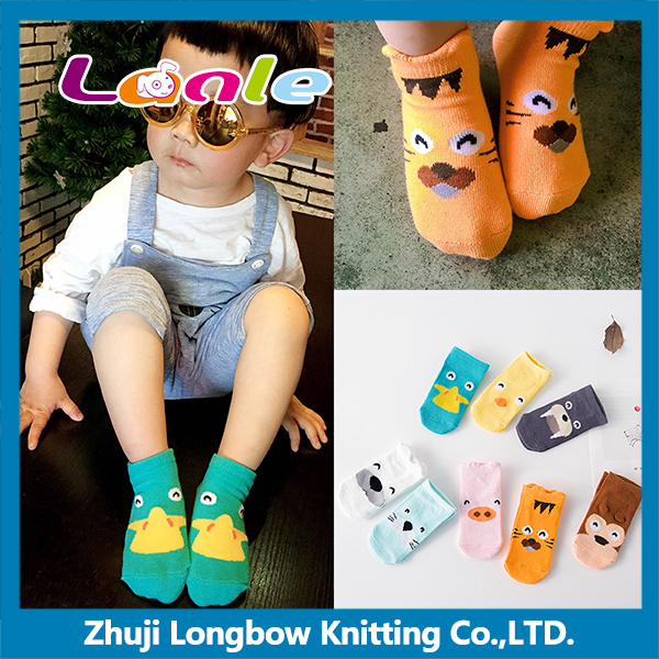 Animal series hot sale cute cartoon tube baby socks