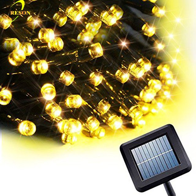 2017 wedding party Christmas decorations 12M 100 led solar fairy ornaments led solar string lights