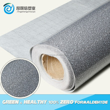 China cheap colorful plastic flooring roll with felt back