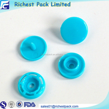 China button factory custom pom snap button plastic fasteners for clothes