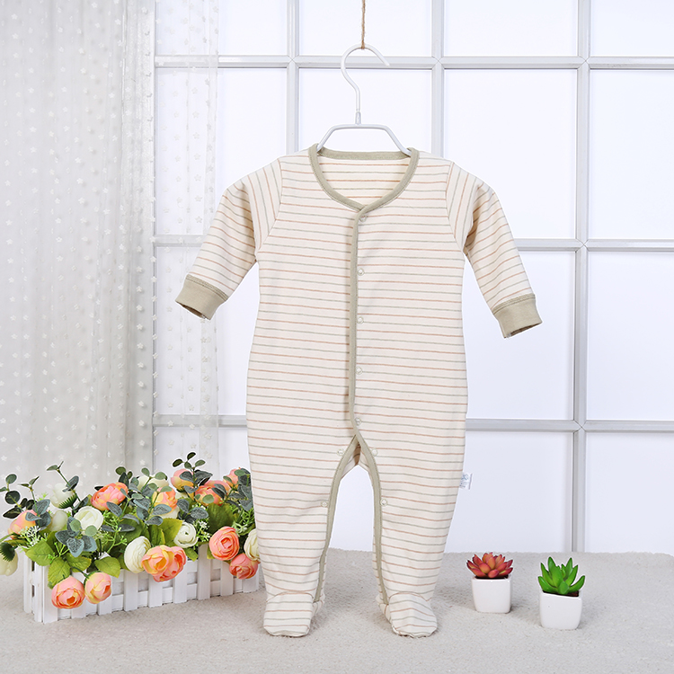 LT-MS-BP001 wholesale OEM <strong>brand</strong> stripe organic cotton baby boy pajamas