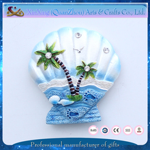 wholesale polyresin scallop home indian souvenir fridge magnet