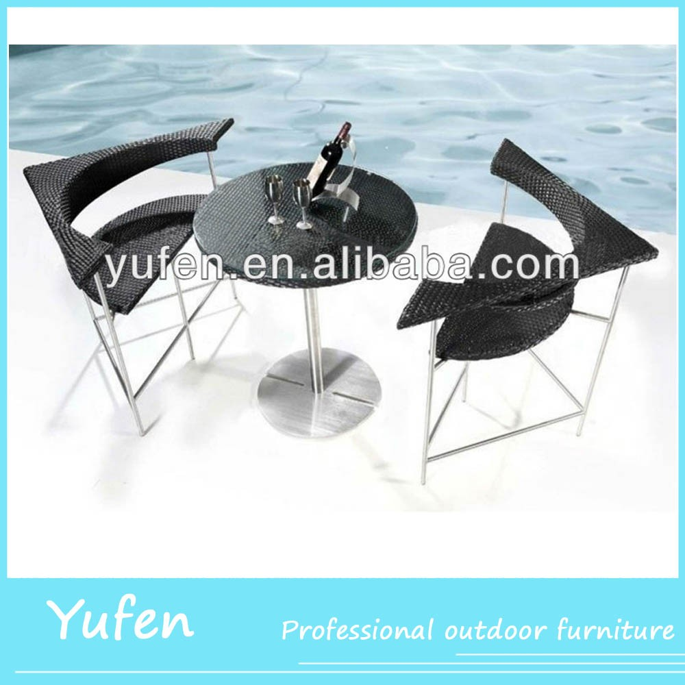 3pcs rattan coffee house tables and chairs