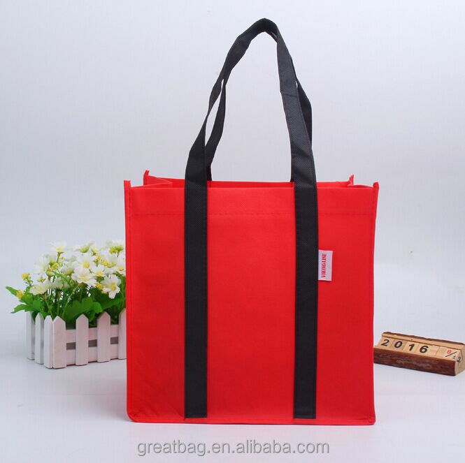 Customizable Cheap Non Woven 6 Bottles Wine Carrier Bag Tote Shopping Bag