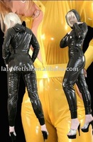 women Latex catsuit 100%natural latex fashion catsuit wiht hat